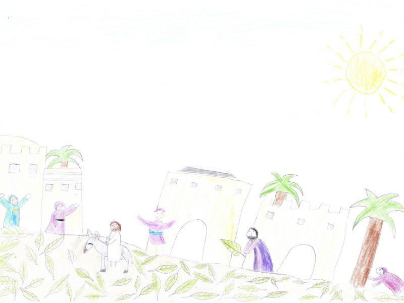 Jesus reitet nach Jerusalem
